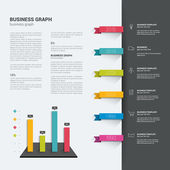 Booklet page. Magazine layout for infographics. Web template. — Stock Vector