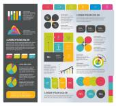 Infographics set elements. Collection of charts, diagrams, schemes, speech bubbles. Vector. — Stockvektor
