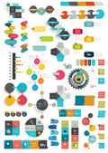 Collections of info graphics flat design diagrams. — Stock Vector