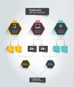 Flowchart tab. Infographic element. — Stock Vector