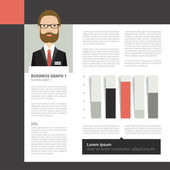 Layout, template page. Brochure, report, text design. — ストックベクタ