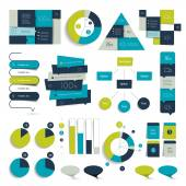 Big set of infographics elements. Charts, diagrams, icons and pointer. Vector. — Vector de stock
