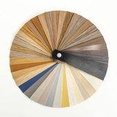 Decorative wood palette guide. Interior design. — Stock Photo