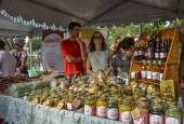 BELO HORIZONTE ,BRAZIL -JULY 05, 2015 .Traditional food and drinks on GASTRONOMY WEEK on Liberty Square in Belo Horizonte, Brazil Minas Gerais on JULY 05, 2015. — Stock Photo