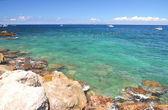 Pittoreska sommar landskap av stranden i marina grande på ön capri, Italien — Stockfoto
