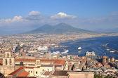 Pittoreska sommaren panorama av Neapel, Kampanien i Italien — Stockfoto