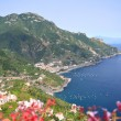 Impressive scenic view of town maiori on amalfi coast, italy — Stock Photo #53490037