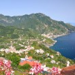 Impressive scenic view of town maiori on amalfi coast, italy — Stock Photo #53490043