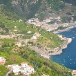 Impressive scenic view of town maiori on amalfi coast, italy — Stock Photo #53490089