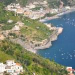 Impressive scenic view of town maiori on amalfi coast, italy — Stock Photo #53490103