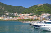 Picturesque view of marina in Salerno, Italy — Photo