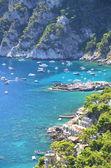 живописные марина пиккола на острове капри, италия — Стоковое фото