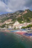 Picturesque view of summer resort  Amalfi, Italy — Stockfoto