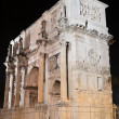 Triumphal Arch of Constantine nearby Colosseum in Rome by night, Italy — Stock Photo #55861267