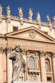 Majestic St. Peter's Basilica in Rome, Vatican, Italy — Stock Photo