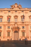 Beautiful Piazza del Quirinale in sunset light in Rome, Italy — Стоковое фото