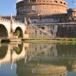 Picturesque view of majestic Castle of Saint Angel over the Tiber river in Rome, Italy — Stock Photo #57826087