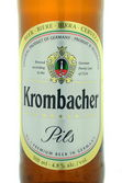Krombacher pils beer isolated on white background. — Stock Photo