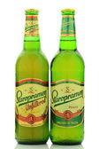 Staropramen beer isolated on white background — Stock Photo