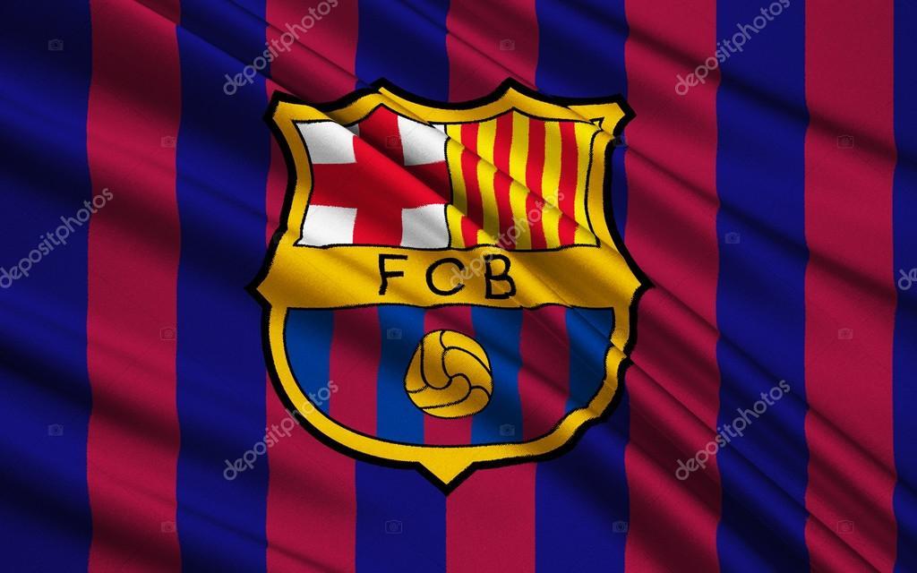 Flag football club barcelona spain stock editorial for Club de fumadores barcelona