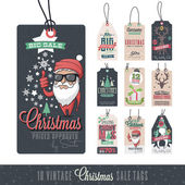 Christmas Sales Hang Tags — Stock Vector
