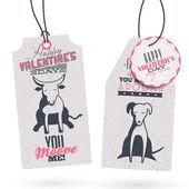 Vintage Sevgililer günü Hediyelik Etiketler — Vettoriale Stock