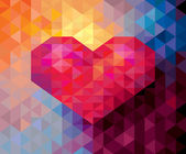 Abstract Geometric Valentine card background — Stockvektor