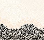Bright luxury vintage wedding ecru & black invitation  wallpaper background — Stock Vector