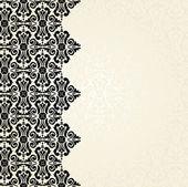 Ecru & black vintage wallpaper design — Stock Vector