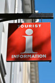 Sign for the Tourist Information — Stock Photo