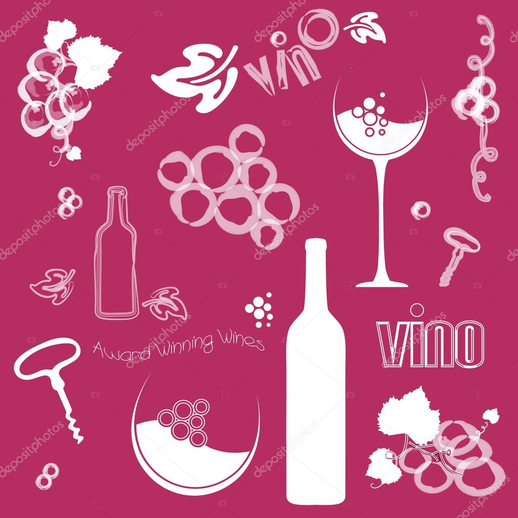 Abstract Wine Vector Background