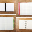 Set of color open notebook — Stock Photo #52215649