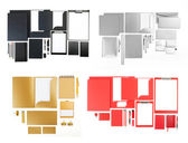 Set of corporate identity templates on white. — Stock Photo
