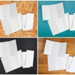 Blank white folding paper flyer — Stock Photo #70584353