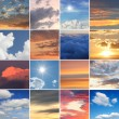 Collage - clouds and skies — Stock Photo #52348009
