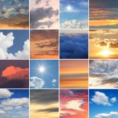 Collage - clouds and skies — Stock Photo