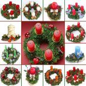手作り出現花輪およびスプレーのコラージュ — ストック写真