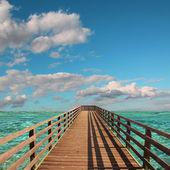 Boardwalk into paradise — Foto Stock