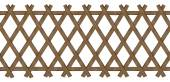 Wooden brown trellis-work fence — Stock Photo