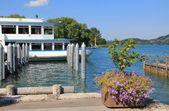 Passenger liner for round trip tegernsee — Stock Photo