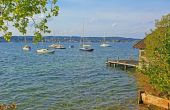 Idyll at starnberg lake, bavaria — Stock Photo