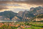 View to italian tourist resort riva del garda — Stock Photo