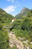 Historic paper mill valley near toscolano, italy — Stock Photo