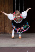 Little girl in traditional costume — Stock Photo