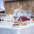 Waiter serving banquet table — Stock Photo #65515377