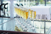 Elegant glasses with champagne — Stock Photo