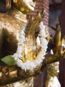 Ancient Buddha at Wat Yai Chai Mongkhon of Ayuthaya, Thailand — Stock Photo