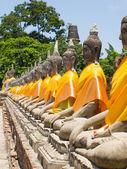 Wat Yai Chai Mongkhon Ayuthaya, Tayland, antik Buda — Stok fotoğraf