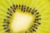 Closed up sliced kiwi fruit — Stock Photo