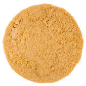Extreme Closeup of Mustard Powder texture — Stock Photo